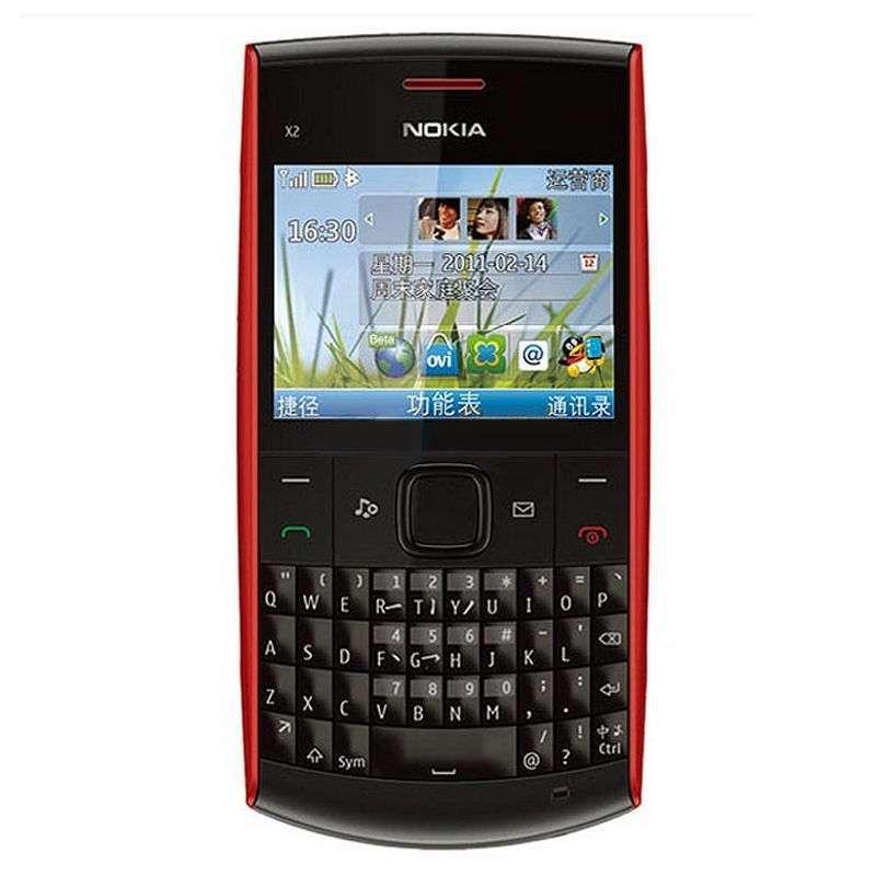 诺基亚手机x2-01红色图片