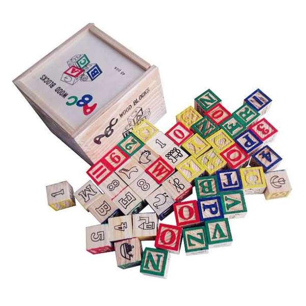 【智乐美堆叠积木】智乐美abc木盒48块学习积木