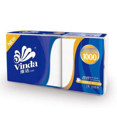维达 无芯卷纸 超韧3层100g卷纸*10卷