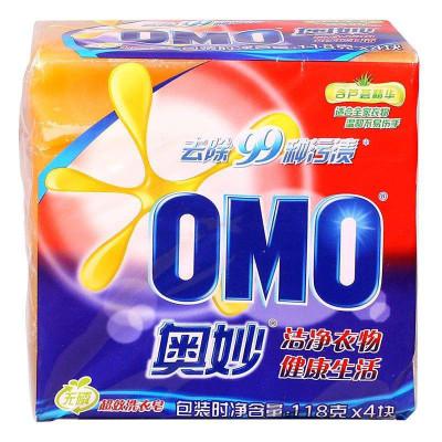 奥妙99超效含芦荟精华洗衣皂118g*4