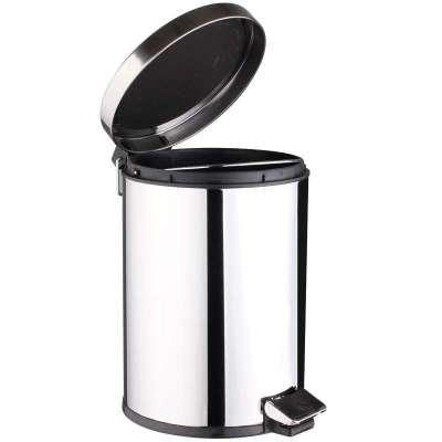 世家脚踏式不锈钢垃圾桶(12l)