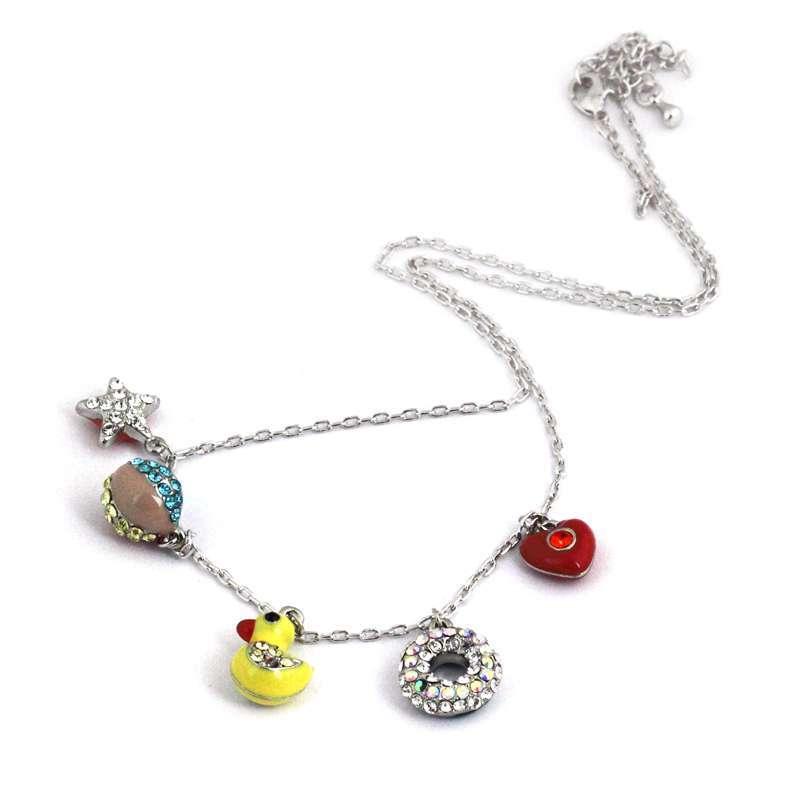 禾场 奥地利进口水晶 小黄鸭 可爱小动物项链