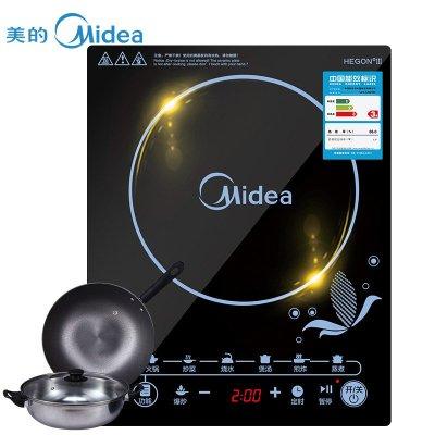 美的(Midea)SN2105T大功率多功能 电磁炉(赠汤锅+炒锅)