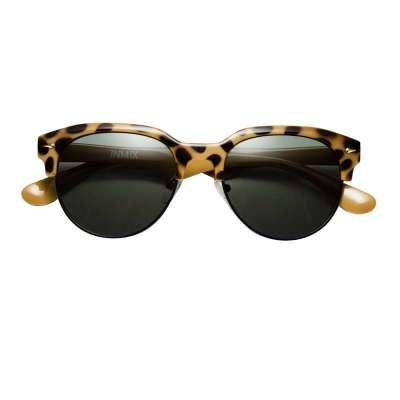 音米女款时尚豹纹边框半框太阳镜