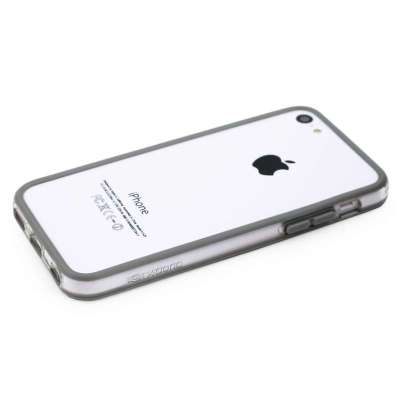 x-doria苹果iphone 5c莹彩边框保护套炫酷灰