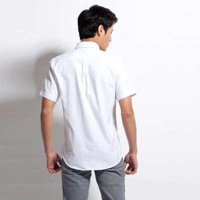 沙漠之鷹夏裝韓版男士襯衫休閑褂子襯衣男修身商務工作服短袖t恤襯衫圖片