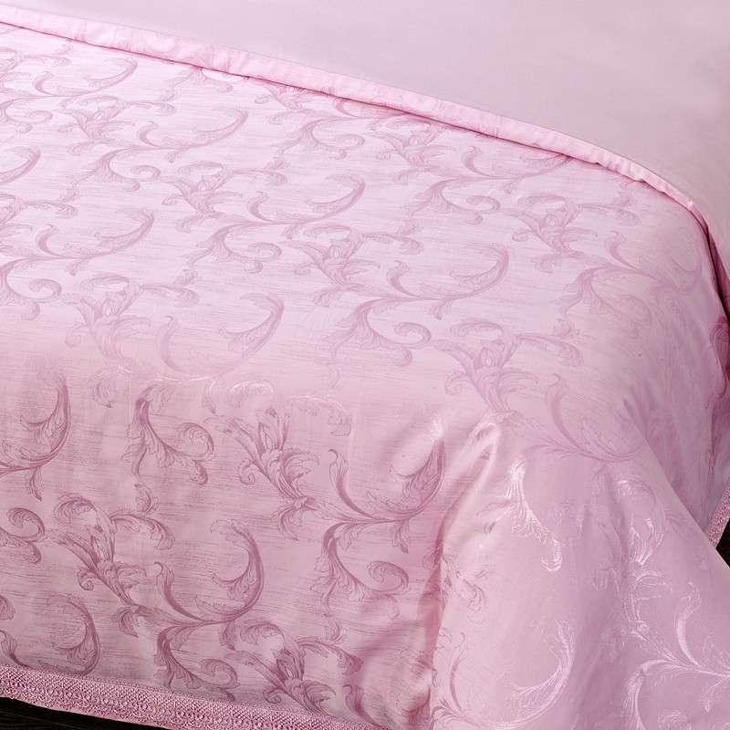 丝棉纯棉贡缎提花床单四件套欧式婚庆套件床