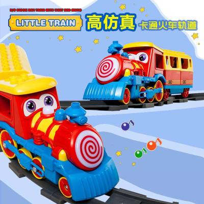 卡通玩具托马斯电动音乐轨道车 儿童玩具小火车