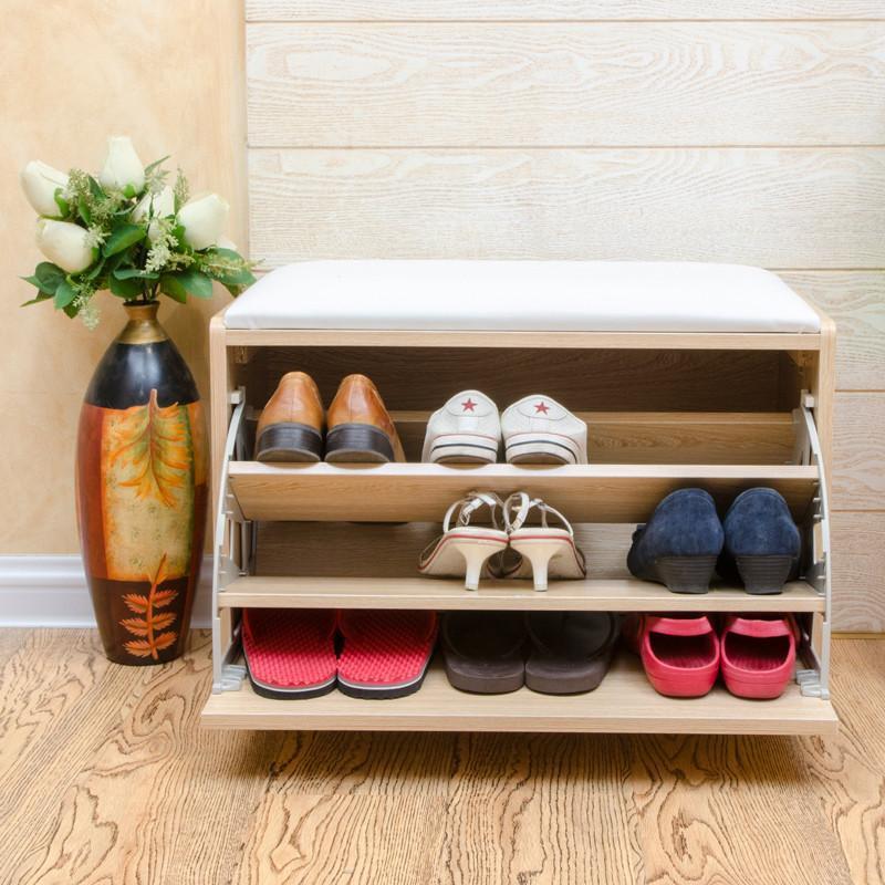 鞋柜 宜家玄关鞋柜超薄欧式翻门鞋柜鞋架软包