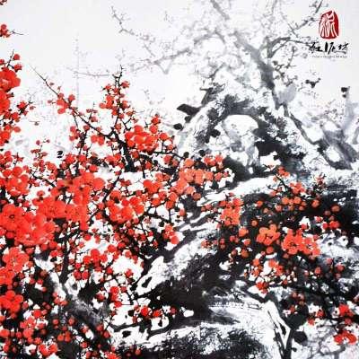 【红泥坊】杨柳青年画 报春图 中国梦 国画特色 印刷海报 求子祈福 大