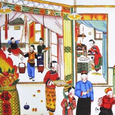 【红泥坊】杨柳青年画 大过新年 中国梦 天津特色 喜庆新年 印刷海报
