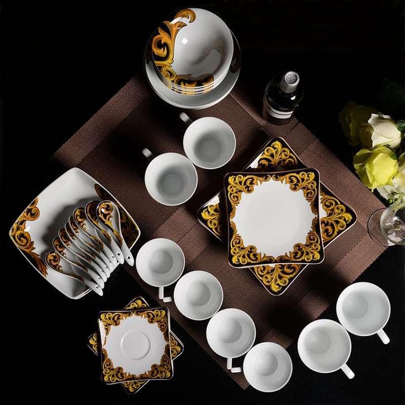 精品餐具出口级38头餐具套装欧式结婚送礼特色创意礼品