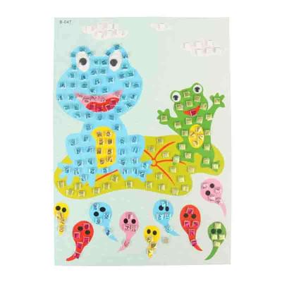 大贸商 3d马赛克立体贴画 卡通手工制作 只售青蛙款图案 ef01352n