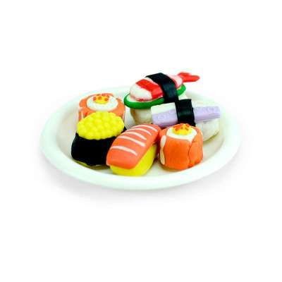 艺智宝彩泥 寿司拼盘 安全无毒 3d橡皮泥儿童益智玩具 套装带模具