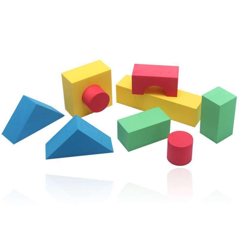 开心玛特 儿童宝宝益智早教玩具 泡沫积木 大块软体 eva积木