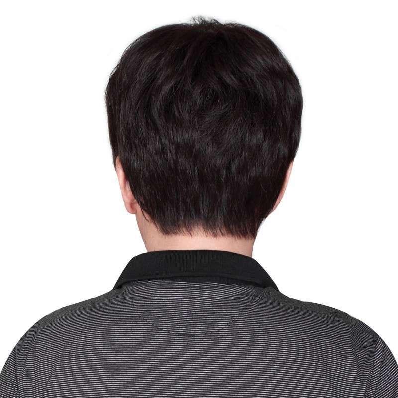 玫瑰雨 男士假发 青中老年真发假发短发男 高端手织工艺 绅士发型