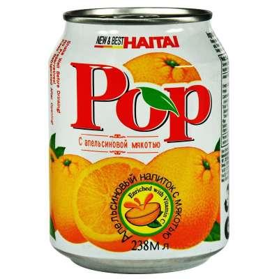 海太pop橙果肉果汁饮料238ml*3