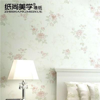 纸尚美墙纸 无纺布欧式田园碎花小清新温馨卧室背景