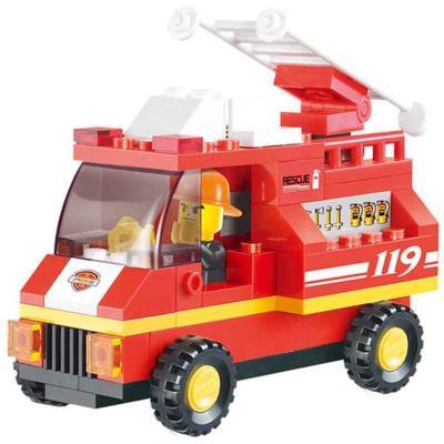 消防车积木拼图大全步骤图解