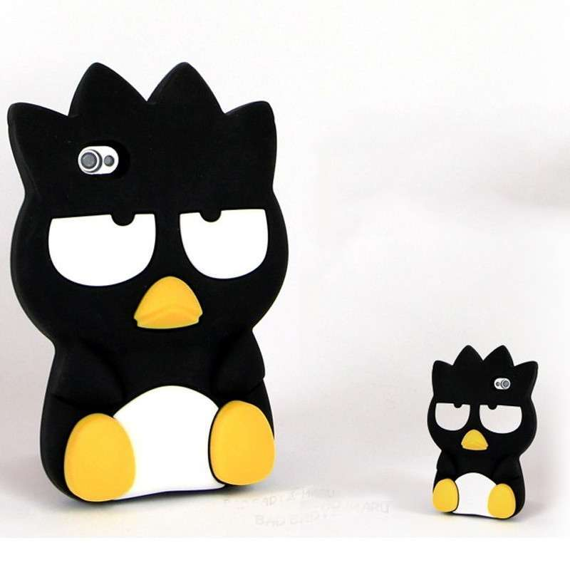 konel iphone5/5s手机壳 苹果5手机壳套 酷企鹅 韩国3d立体硅胶保护套