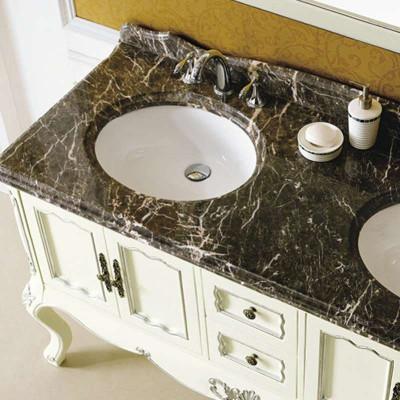 大理石欧式浴室柜 实木仿古卫浴柜