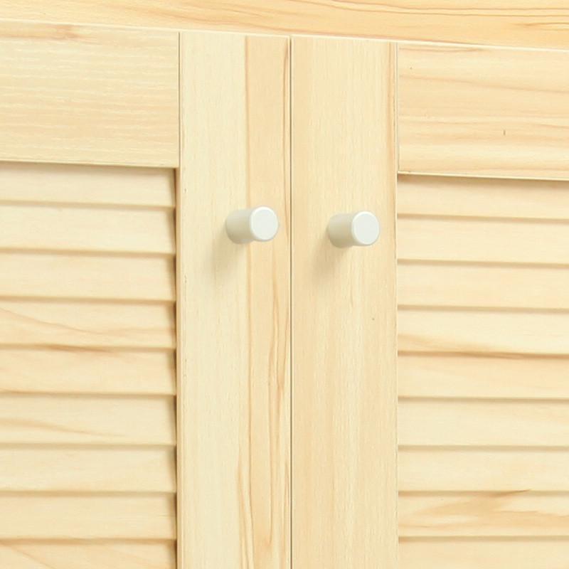 百乘b2浅木纹色双开门鞋柜