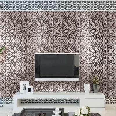 本木欧式简约卧室个性米黄无纺布墙纸客厅满铺电视背景墙壁纸特价