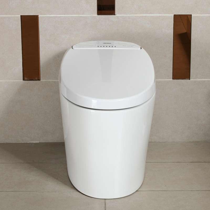 无水箱自动冲水即热型智能马桶