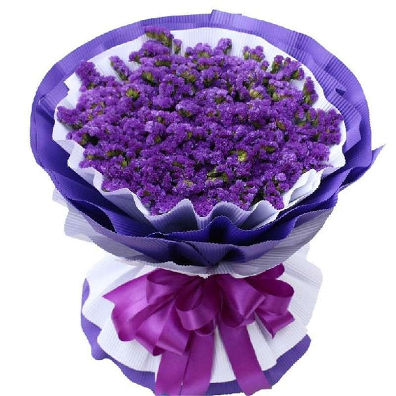 鲜花速递 一扎紫色勿忘我