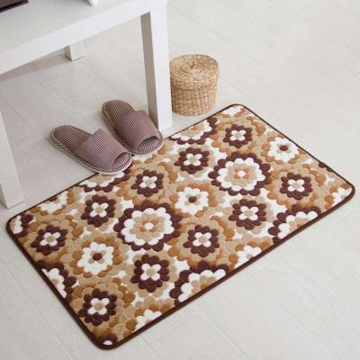 珊瑚绒防滑地垫客厅卧室地毯浴室吸水垫玄关垫