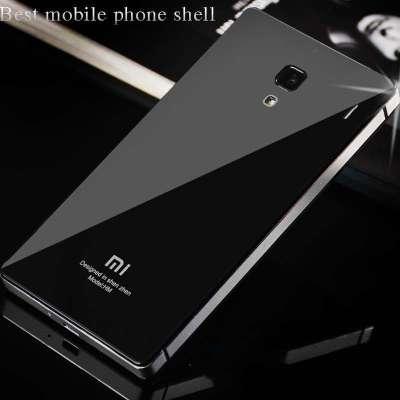 红米金属边框钢化玻璃后盖 超薄红米手机保护壳 红米保护套 红米手机