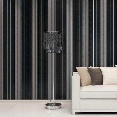 m欧式田园电视背景墙纸壁纸卧室客厅无纺布房间竖条纹