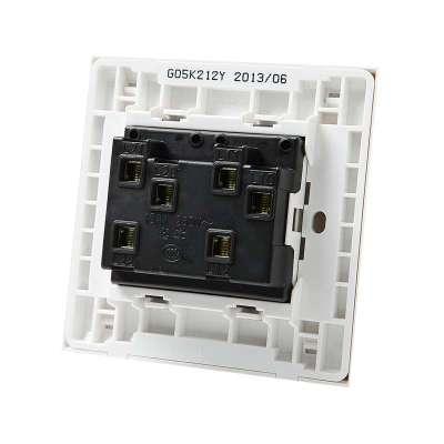 公牛 墙壁面板开关插座 双开双控 86型 g05k212y(带荧光开关)