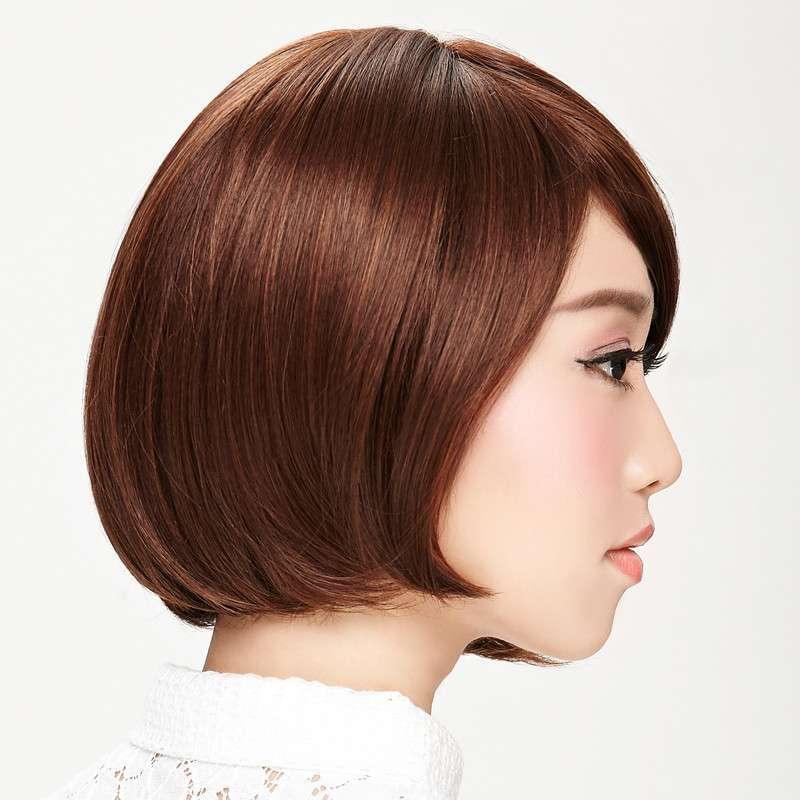 娇滴假发女 个性不规则短发直发斜刘海帅气bobo头 沙宣时尚款