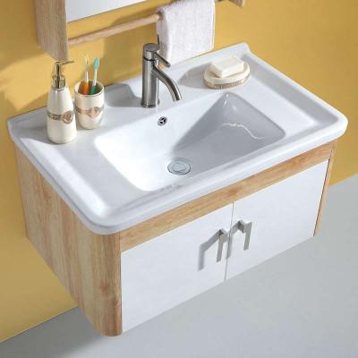 304不锈钢实木纹欧式浴室柜yg08黄橡木 白橡木纹(800mm现货尺寸)