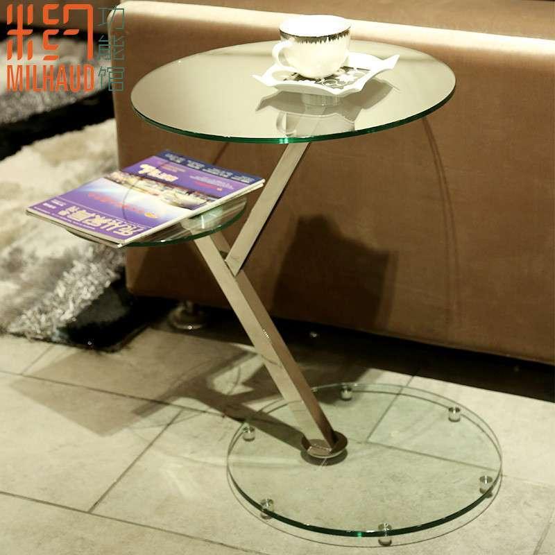 米約 時尚沙發邊幾角幾 客廳茶幾電話幾 床邊桌花架圓幾雙層茶幾
