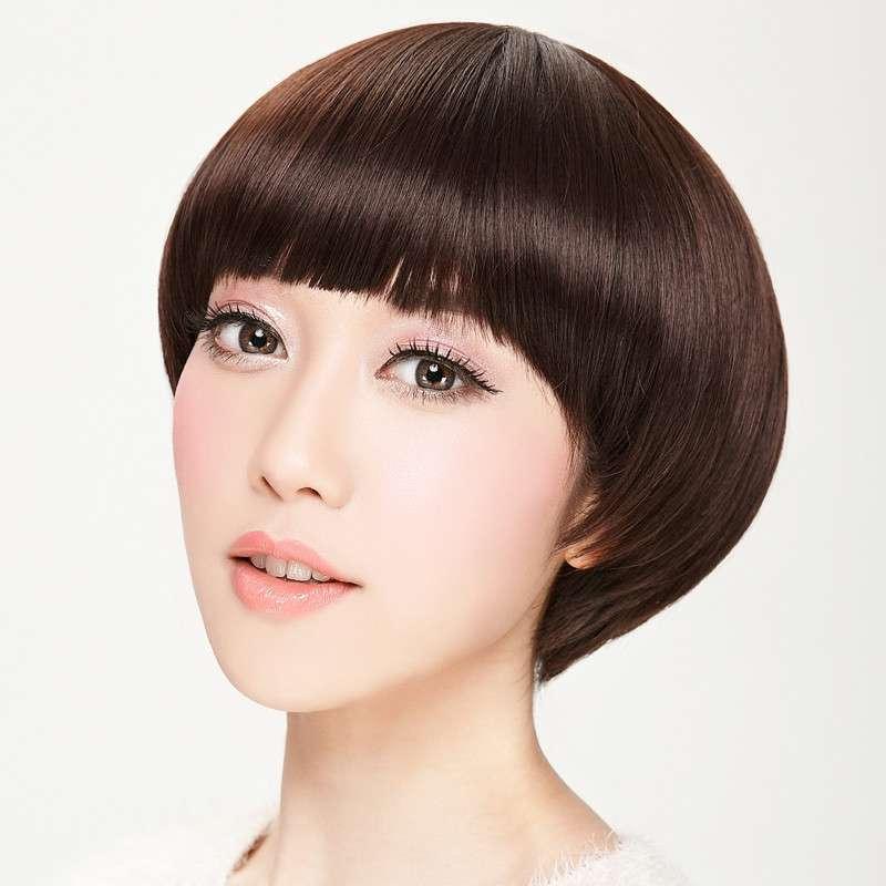 娇滴假发 蘑菇头女生短发 超个性帅气波波头 修脸减龄可爱短直发