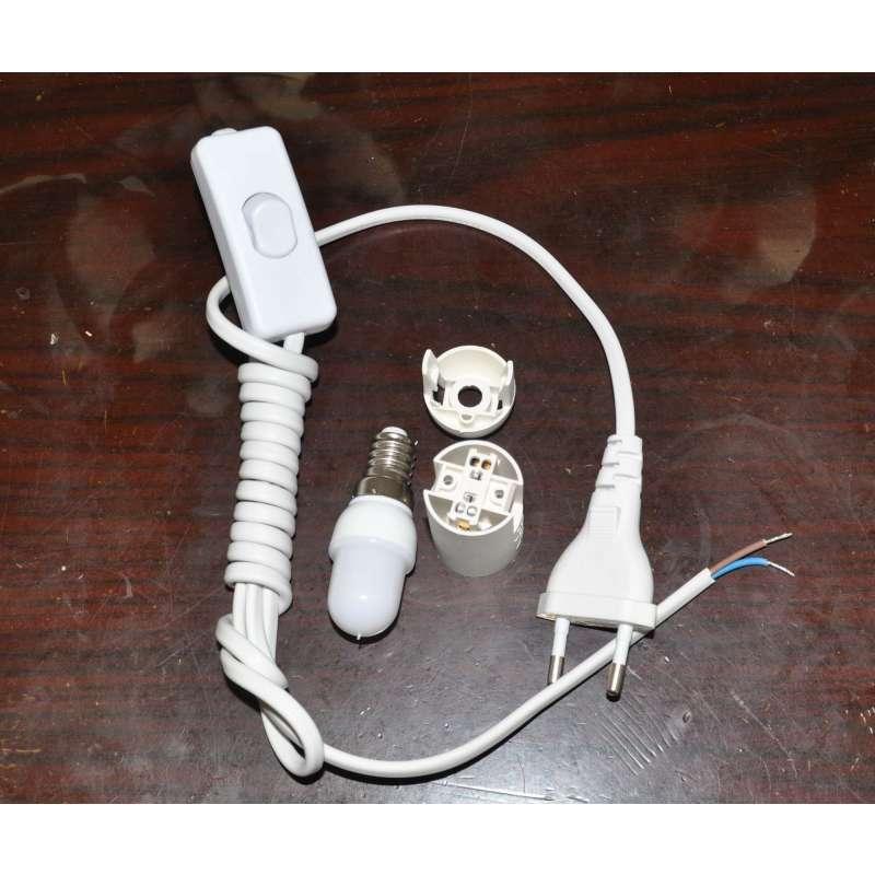 地球仪专用电线开关灯头 led节能灯 买带灯套餐已经安装好