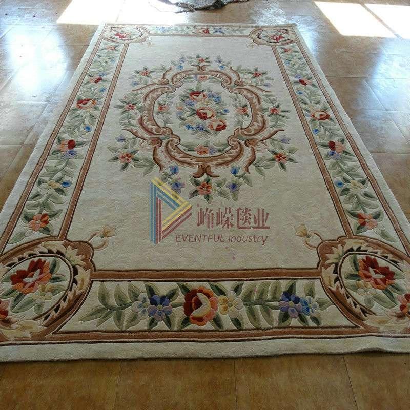 峥嵘毯业 手工羊毛地毯 别墅地毯 欧式地毯160*230 任何尺寸可定制