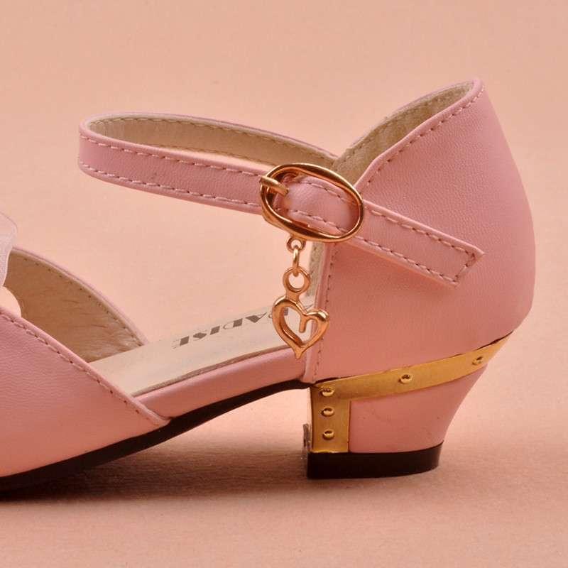 梵贝拉2014新款夏儿童高跟凉鞋女童公主可爱时尚蝴蝶结鱼嘴韩版潮