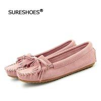 秀尔修斯单鞋豆豆鞋舒适平底女真皮春季韩版少a单鞋头像女生图片