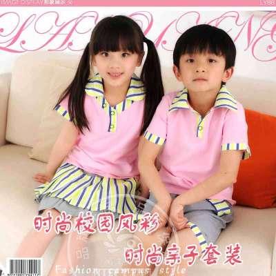 品牌儿童校服幼儿园服装夏新款套装学生老师装大中小