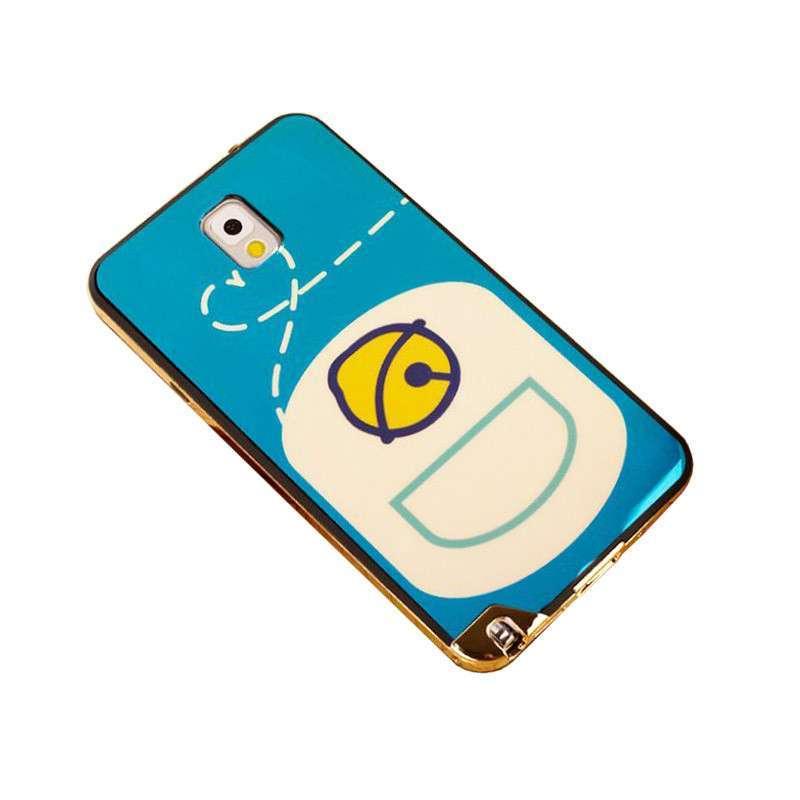 三星note3手机壳可爱卡通电镀边外壳n