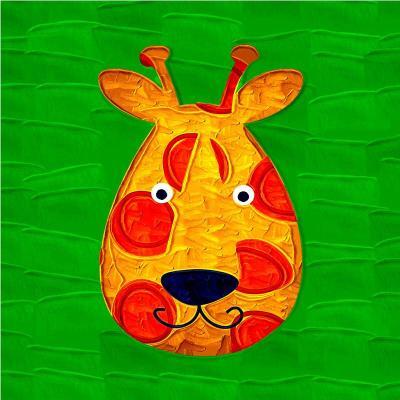 卡通动漫趣味动物壁画家居卧室床头挂画儿童