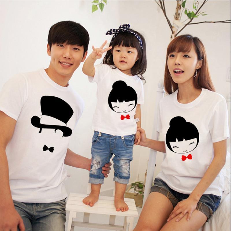 麦韩亲子装 夏装潮款一家三口全家母子母女装韩版可爱