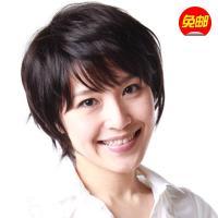 私女士短发中老年短v女士斜刘海金色套日本女生头发假发元气图片图片
