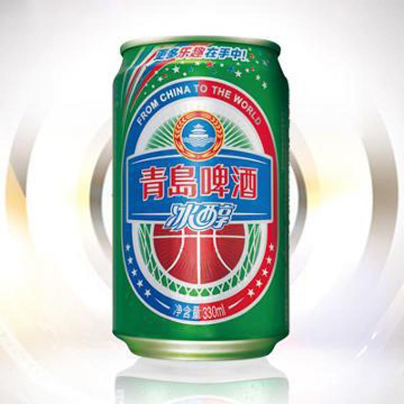 【青岛啤酒啤酒】青岛啤酒冰醇10度听装330ml*24