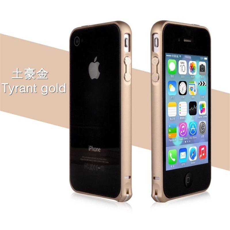苹果4s金属边框海马扣 苹果4g手机保护壳 4手机套新款超薄圆弧边框