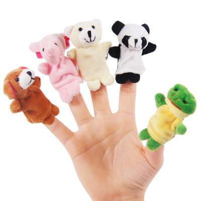 勾勾手迷你小动物手偶玩具 手指玩偶手指偶婴儿玩具0-1岁讲故事的好玩