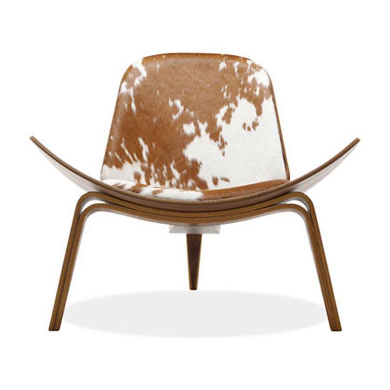 霍客森丹麦carl hansen son 三脚椅ch07 飞机椅 弯板曲木椅实木椅 棕